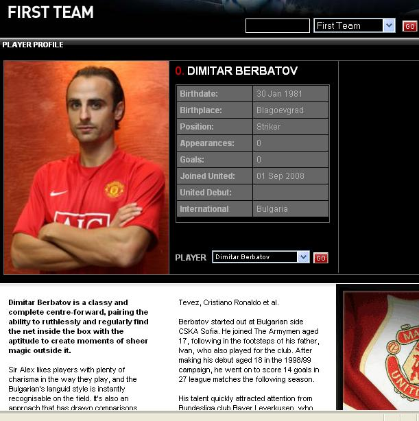 PICTURE: Berbatov Wearing United's Number 9