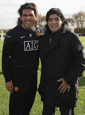 Maradona: Tevez Is Fearful… Even Though He's In Fergie's Plans