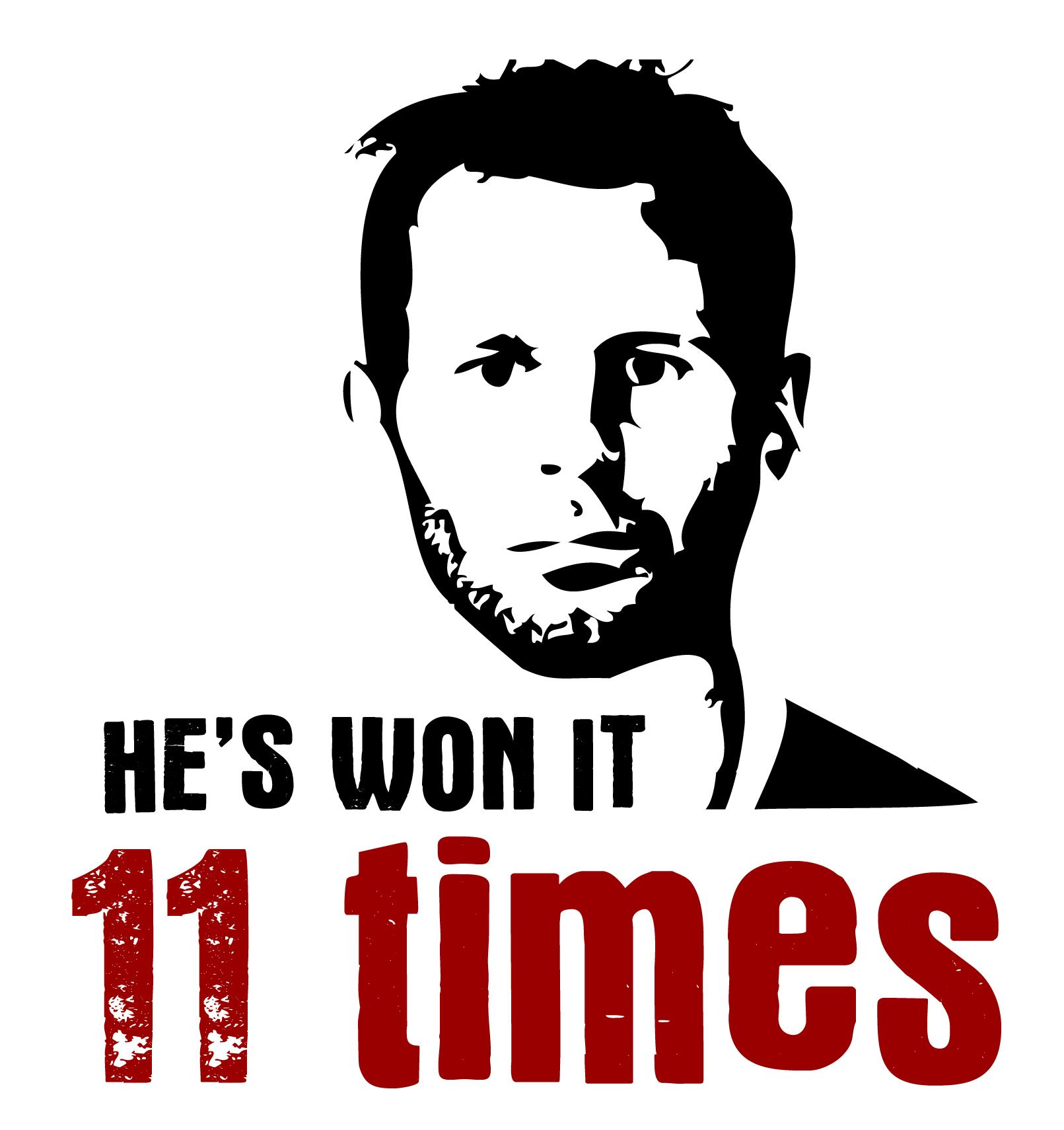 He's Won It 11 Times