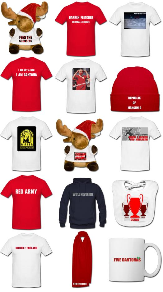 Manchester United christmas products and gifts