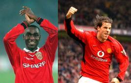 Andy Cole and Ruud van Nistelrooy