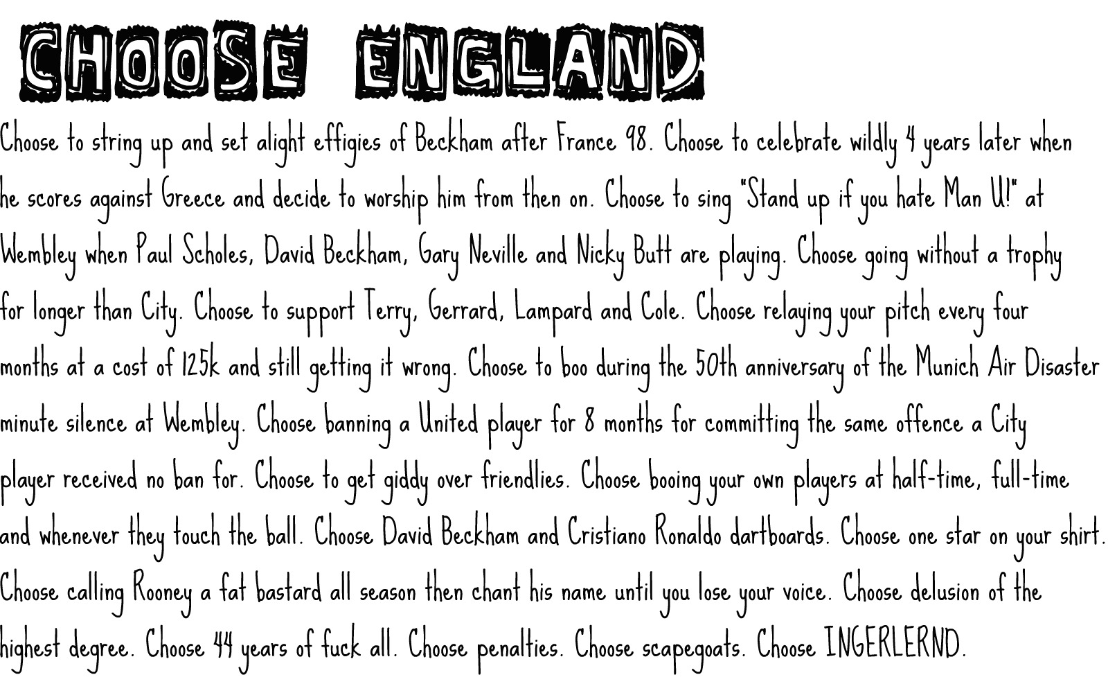 Choose England T-Shirts