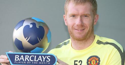 Manager & Player of the month 2010 - 2011 Scholes-Player-of-the-Month