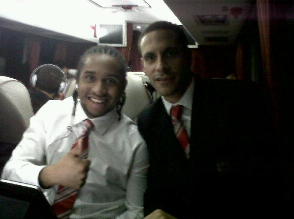 PICTURE: Rio And Anderson On Coach Back From Midlands