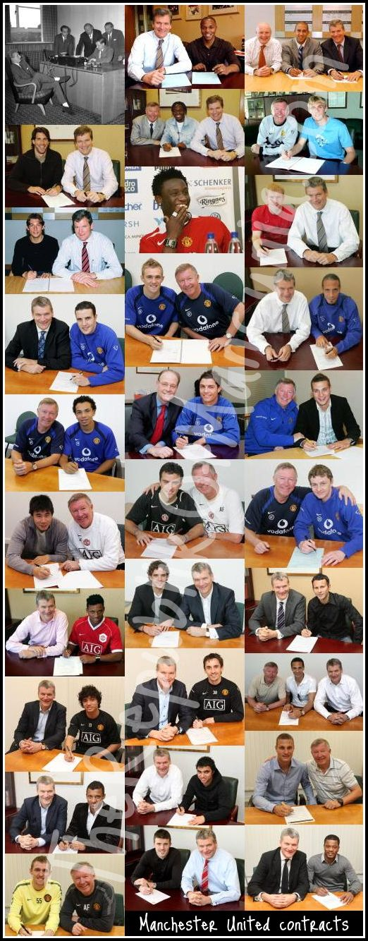 PICTURES: United Players Signing Their Contracts