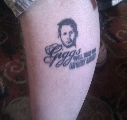 PICTURE: Giggs Will Tear You Apart Again Tattoo