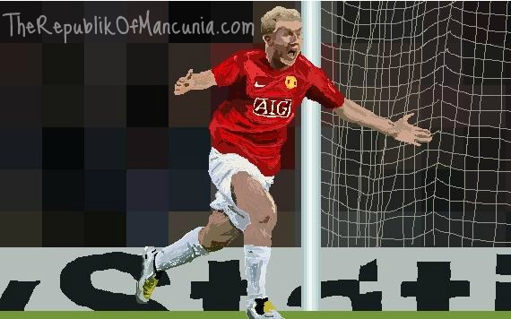 PICTURES: Scholes Best Moment On Paint Runners Up