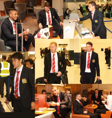 PICTURES: United Players Leave For Tour