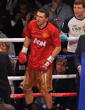 Senchenko Wears Manchester United Shirt Ahead Of Hatton Fight