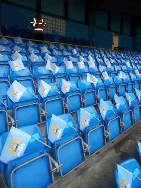 PICTURE: City Fill Ground With Plastic Flags?