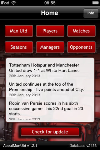 About Manutd App All Manchester United Stats At Your Fingertips