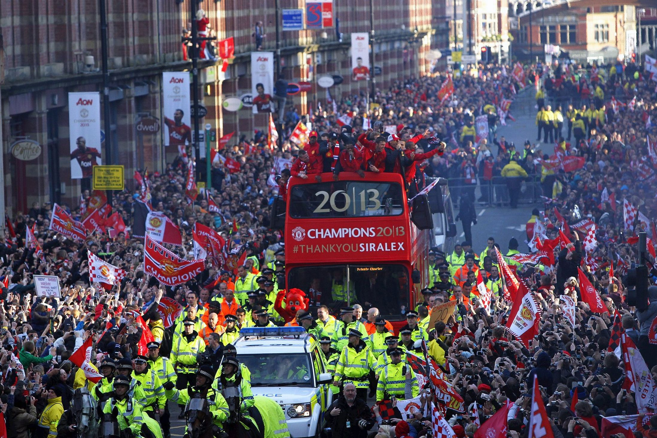 PICTURE: Manchester United Fans Celebrating During Trophy