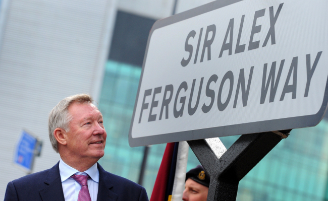 PICTURE: Sir Alex Ferguson Way