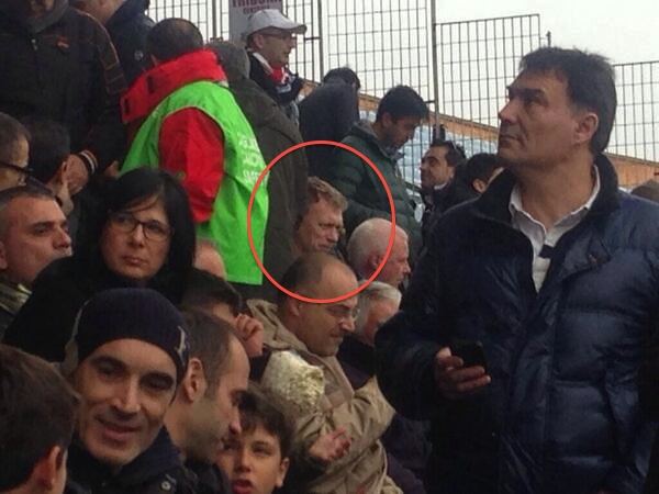 PICTURE: Moyes at Serie A game today
