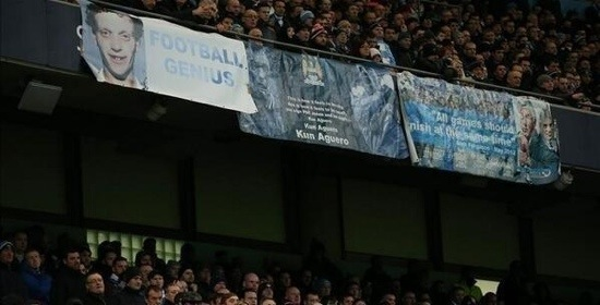 PICTURE: City's stand of United banners
