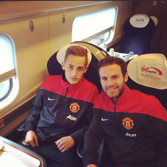 PICTURE: Mata poses with Januzaj on train to London