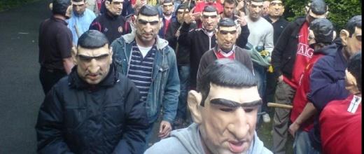 Crystal Palace ban Cantona masks