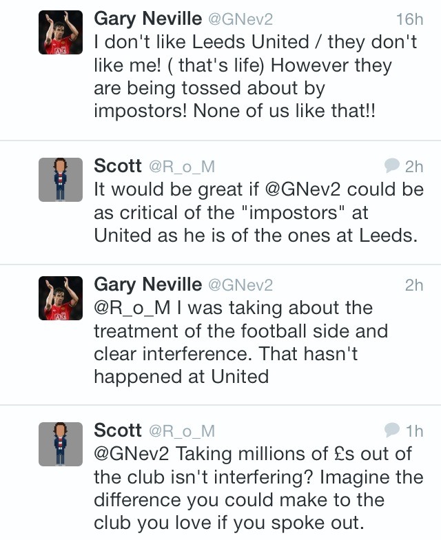 Talking to Gary Neville about the Glazers