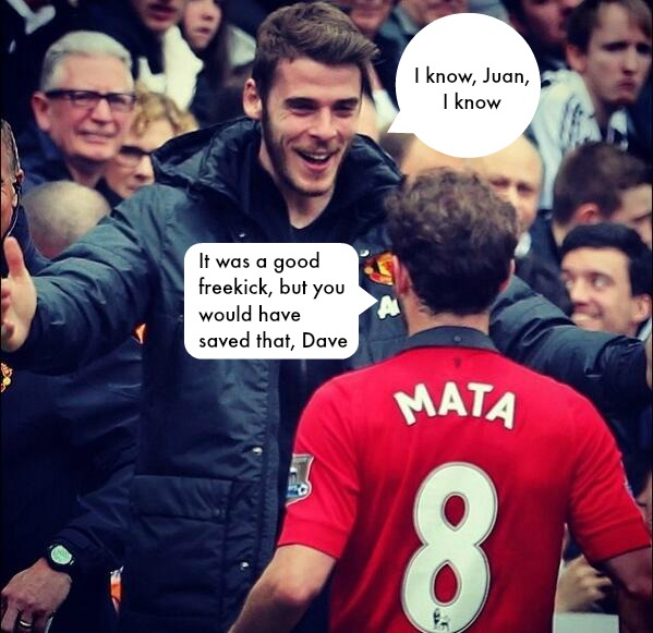 Mata explains De Gea celebration