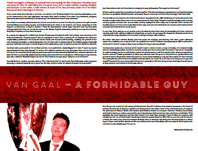 Louis van Gaal – a formidable guy