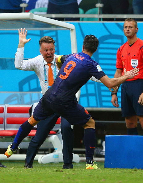 Van Gaal and Van Persie Batter World and European Champions