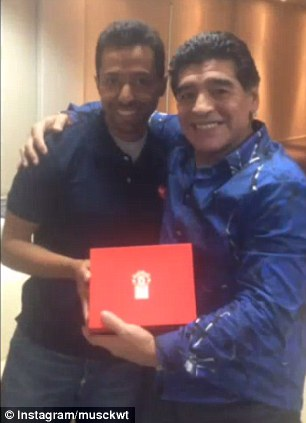 PICTURE: Maradona is a red