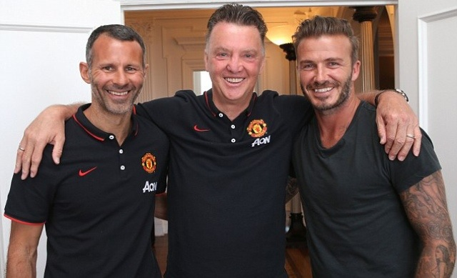 PICTURES: LvG with Beckham and Giggs