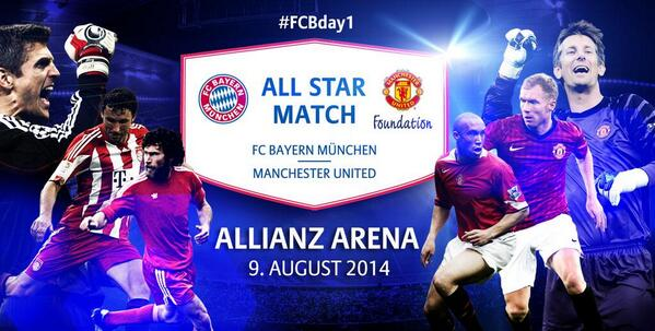 United vs FC Bayern All Star Match – August 9th