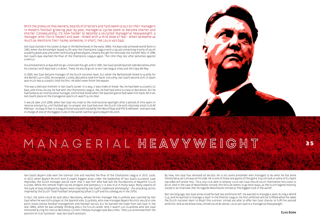Louis van Gaal – a managerial heavyweight