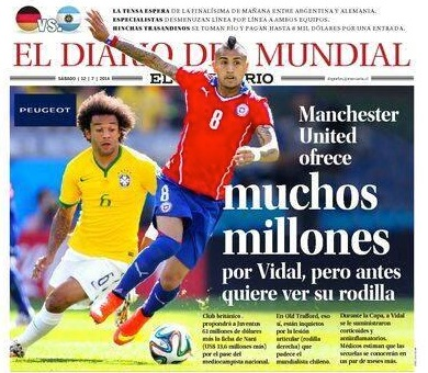 Chilean press report Vidal is coming to United