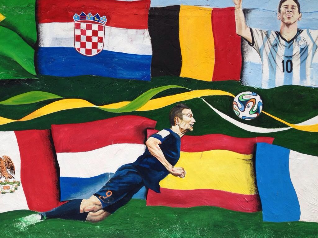 PICTURES: Van Persie wall art in Brazil