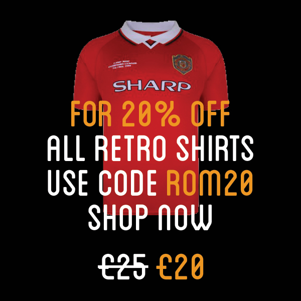 20% off retro United shirts