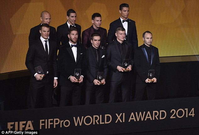 PICTURE: Di Maria in 2014 FIFPro World XI team of the year
