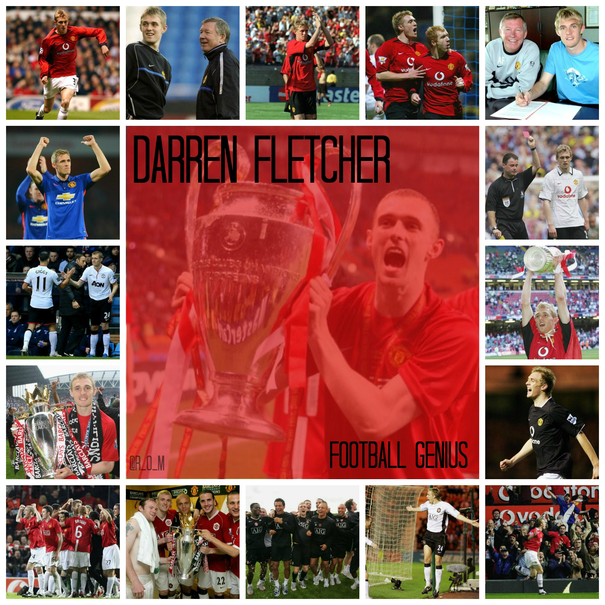 PICTURE: Fletcher's United career