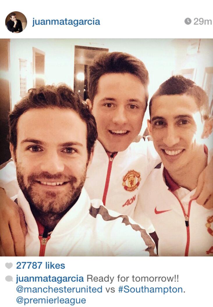 PICTURE: Di Maria, Mata and Herrera ready for Southampton