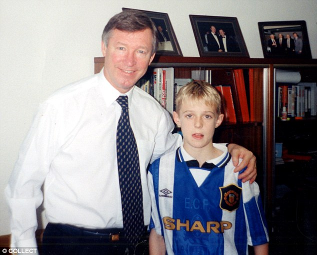 PICTURE: Fletcher as a child with Ferguson