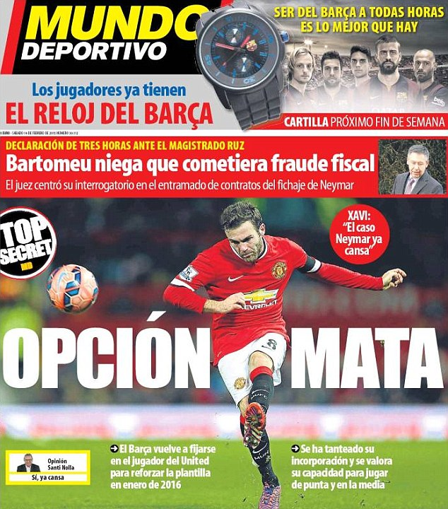 PICTURE: Barcelona want to sign Mata