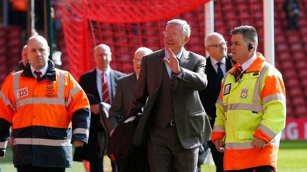 PICTURE: Ferguson arrives at Anfield