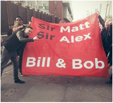 PICTURE: United banner compares our great managers to Liverpool's