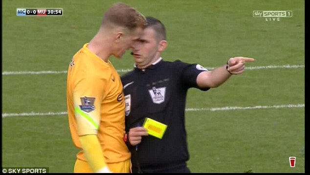 PICTURE: Why does this referee only send off United players for touching him?