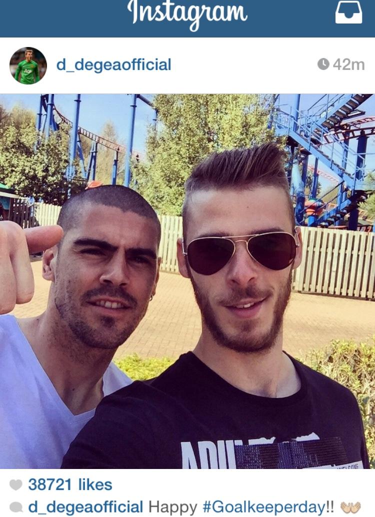 PICTURE: De Gea posts selfie with Valdes