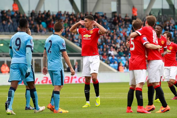 United youngster responds to City chant with a goal