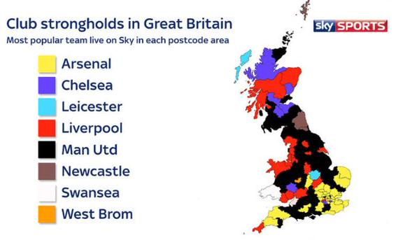 PICTURE: United most watched team in Great Britain