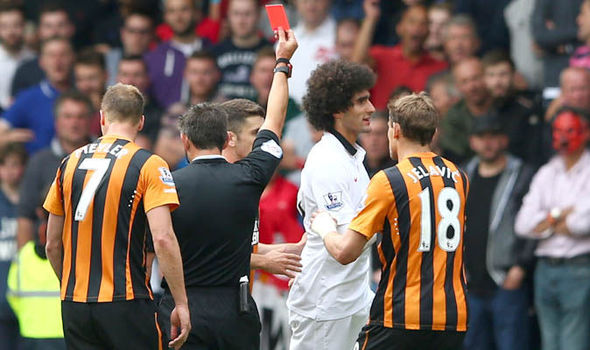 Fellaini: The manager fined me for Hull red card