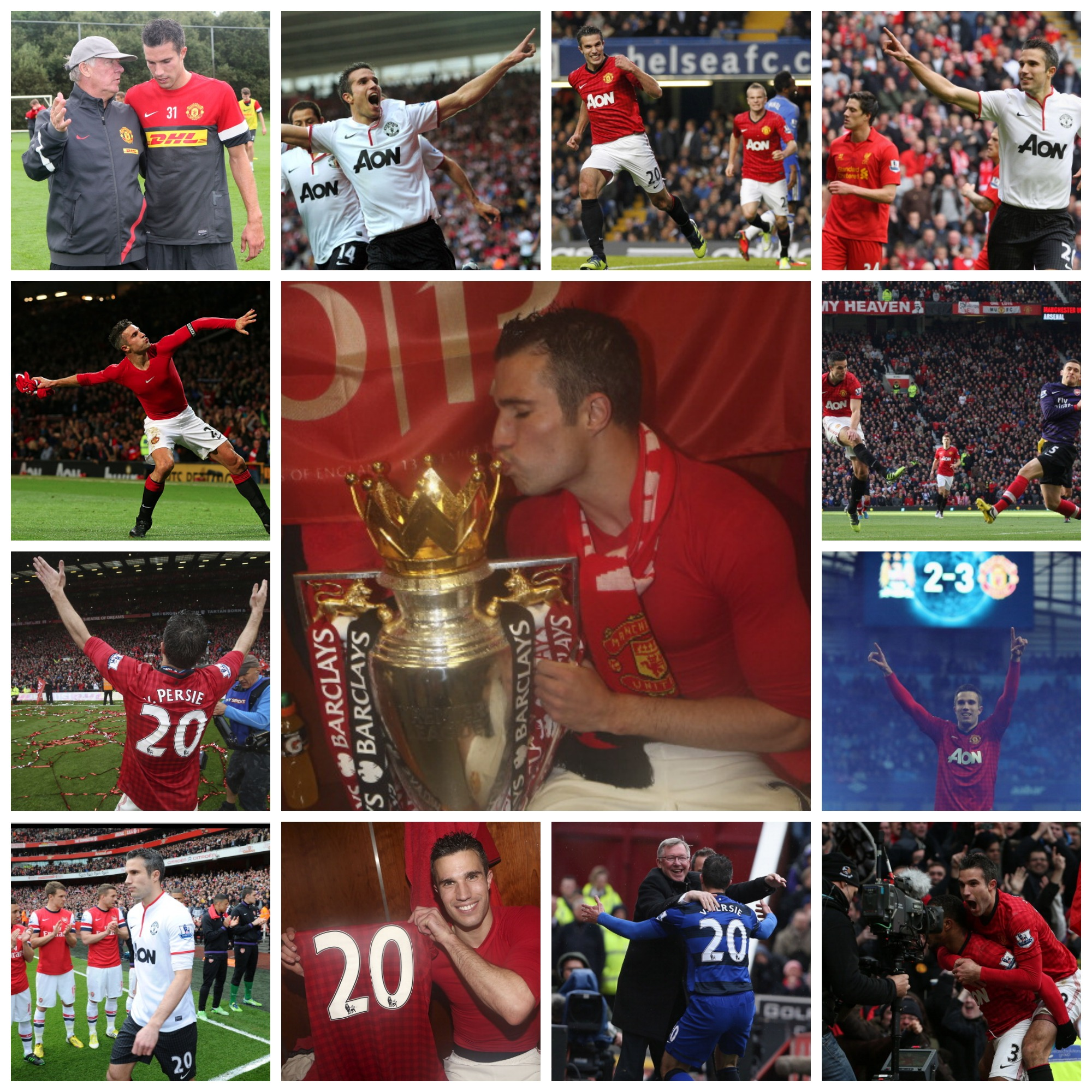 PICTURES: Robin van Persie's United career