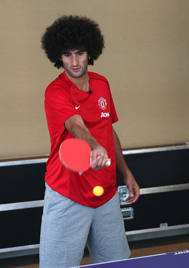 PICTURES: United battling it out on tour… at table tennis