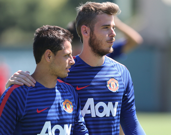 De Gea happy to be reunited with Chicharito