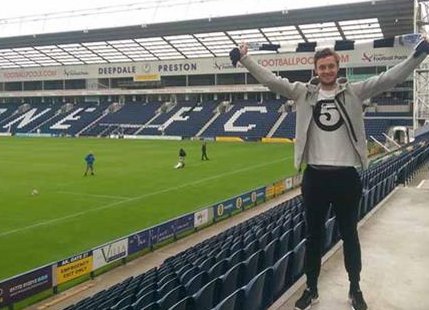 PICTURE: Will Keane promotes Rio Ferdinand's brand at unveiling