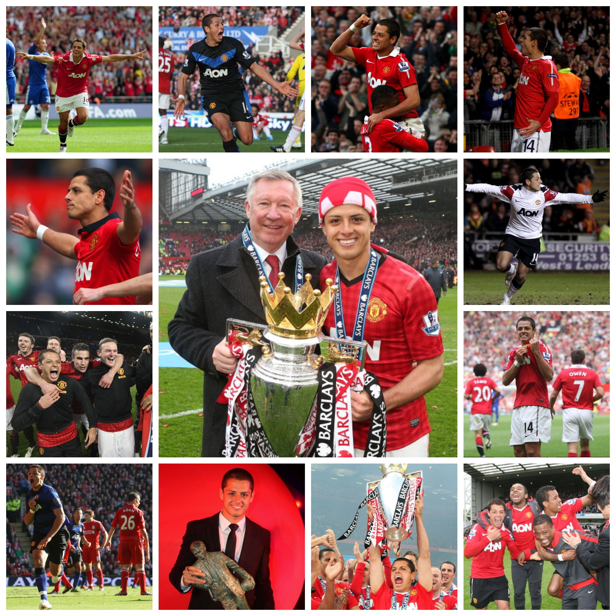 PICTURES: Chicharito's Manchester United career