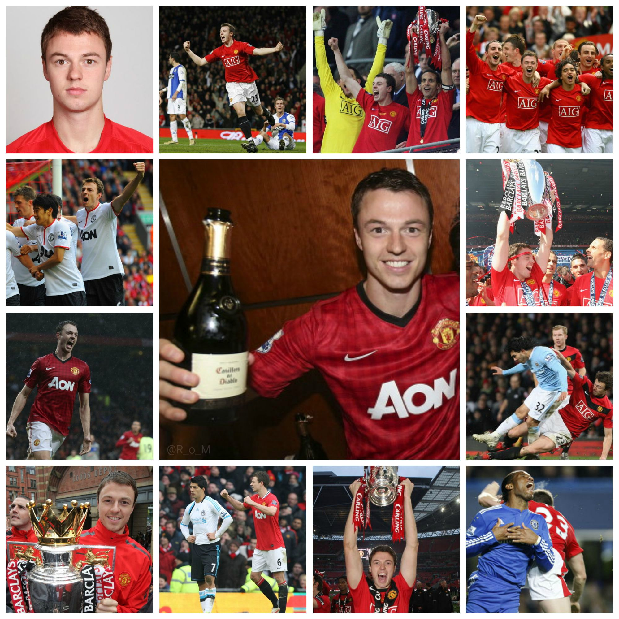 PICTURES: Jonny Evans' Manchester United career